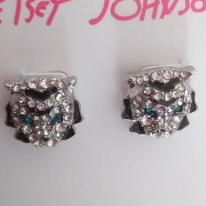 Betsey Johnson New Tiger Earrings
